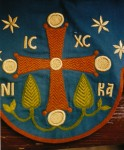 Embroidered surround for the Portaitissa icon, detail