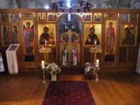 Iconostasis. Oak. Screen and icons by Aidan Hart