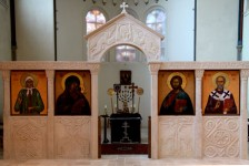 Iconostasis. Three types of limestone