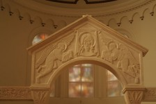 Iconostasis arch, Creeton limestone with Bath stone capping