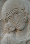 Vladimir Mother of God, detail. Bath stone