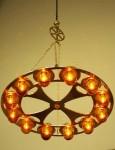Brass 12 Lamp Chandelier.