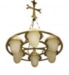 New brass chandelier