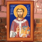 St Augustine of Canterbury. Just finished painting it – destined as a gift from the Archbishop of Canterbury of canterbury#icon#western saints#